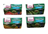 Diced Carrots, Cut Green Beans, Whole Kernel Sweet Corn, Sweet Peas - Variety Pack of 4 Libby's Microwavable Individual Cups (16 Servings Total) - Bundle