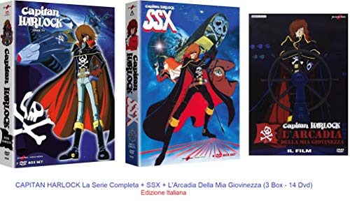 CAPITAN HARLOCK La Serie Completa + SSX + L'Arcadia Della Mia Giovinezza (3 Box - 14 Dvd) Ed.Italiana