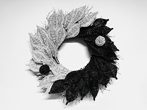 Yin and Yang Black and White Wreath