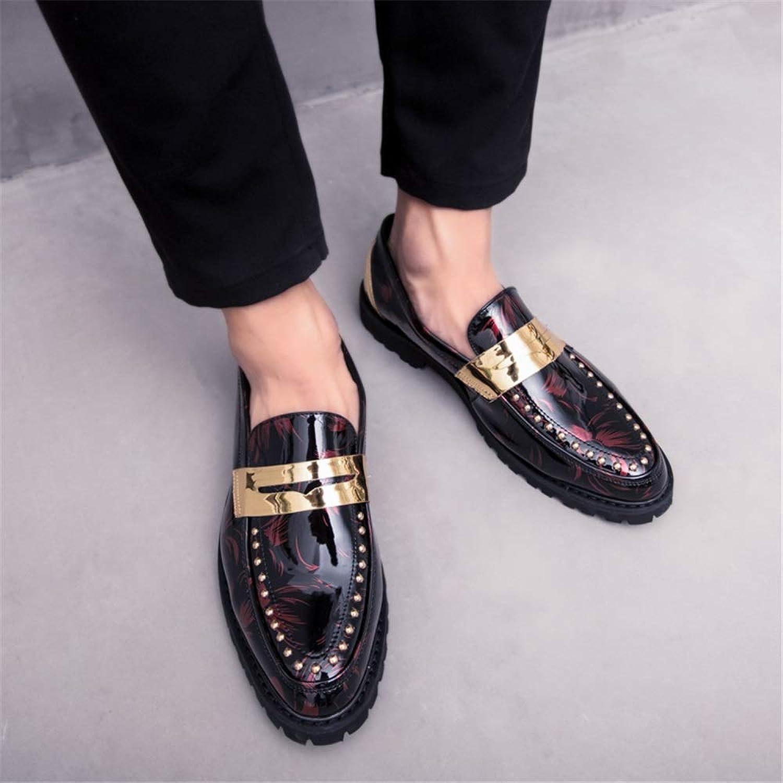 Easy Go Shopping Herren Lederschuhe Oxford Casual Persönlichkeit Mode Nähen Rost Niet Dekorative Formale Schuhe,Grille Schuhe  | Outlet Store Online