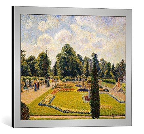 Kunst für Alle Cuadro con Marco: Camille Pissarro Kew Gardens - Impresión artística Decorativa con Marco, 60x50 cm, Plata cepillada