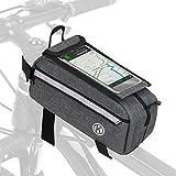 Lixada Radtasche Triangle Bag Reflektierende Fahrradrahmen Tasche Fahrradzubehör Aufbewahrungsbeutel Tasche