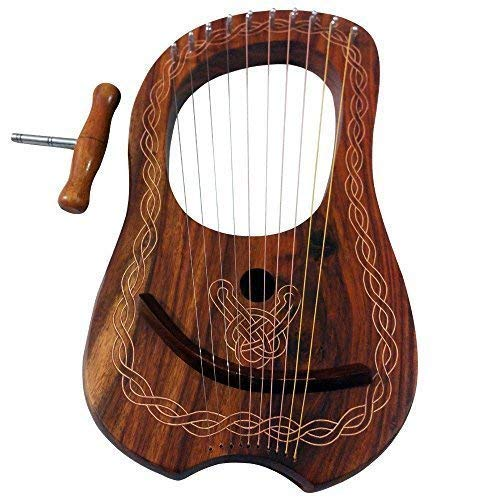 Lyra Mundharmonika 10 Metall Saiten Palisanderholz/Lyra Mundharmonika Palisanderholz 10 Saiten Freie Gehäuse