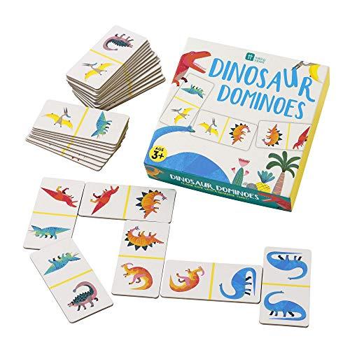 Talking Tables DINO-DOMINOES Domino Dinosaurios para Niños, Papel