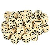 Scarlet Play | Würfelset »Casino 50« mit 50 Augenwürfeln, Spielwürfel aus umweltfreundlichem Acryl, Standardgröße für 6-seitige Würfel, inkl. Stoffbeutel (Elfenbein)