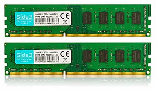 Side3 デスクトップ パソコン メモリ サムスンチップ搭載 DDR3-1600 PC3-12800U (2GB×2)