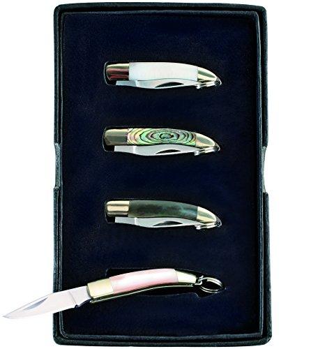Herbertz Mini-Messer 4er Set Gesamtlänge: 6.1cm, grau, M