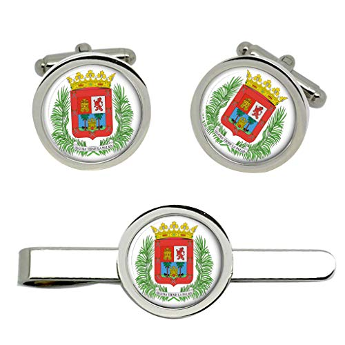 Giftshop UK Las Palmas (Spanien) Manschettenknöpfe und Krawatte Clip Set