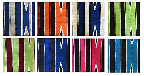 netproshop Navajo Western Satteldecke aus Baumwolle, Farbe:Pink/Schwarz