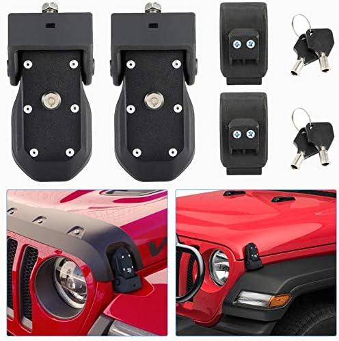 Kohree JL Hood Latch Jeep Wrangler Hood Latch Lock Catch Jeep JK Accessories Original Black product image