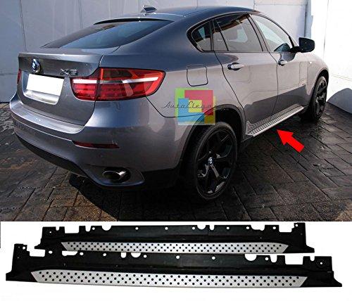 Auto PEDANE Laterali per BMW X6 E71 2008+ SOTTOPORTA in Alluminio