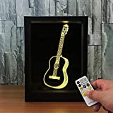 lampada da tavolo 3d giocattolo per bambini regalo chitarra po telecomando modifica usb luce notturna led lampada da tavolo 3d giocattolo per bambini regalo tavolo scrivania decorazione visiva per