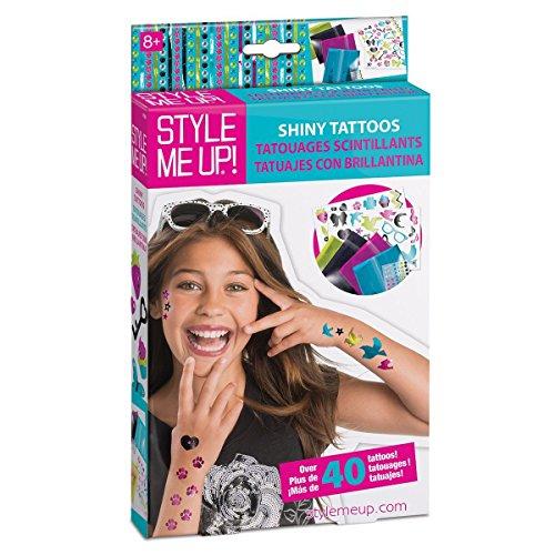 Style Me Up - glittertattoo set voor meisjes - kindertattoos met sjablonen om zelf te maken - SMU-551