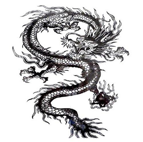 5 STÜCKE Aquarell Drachen Totem Temporäre Tattoo Aufkleber Für Frauen Fake Tattoo Männer Körperkunst Hand Aufkleber