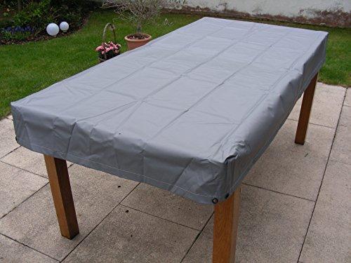 housse de protection pour table de jardin gris rectangulaire pour la taille de la table 200x80x15
