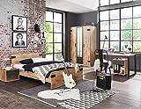 lifestyle4living Jugendzimmer Komplett-Set in Plankeneiche-Dekor und Graphit