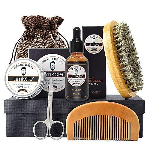 Beard Groming Kit, Beard Oil Beard Balm, Beard Brush, Beard Comb, Beard Scissors Luxury Gift Box,...