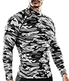 DRSKIN Men's Long Sleeve Compression Shirts Top Sports Workout Running Athletic Baselayer Dry Thermal Winter