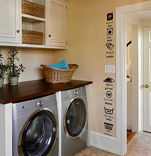 Adesivi Murali Etichette Con Regole per Il Bucato Ogni Etichetta è Indipendente e può Essere Apposta in Lavanderia a Piacimento