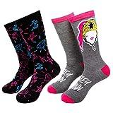 Harley Quinn Paquete de 2 pares de calcetines informales color carbón - gris - talla única