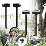 Sylanda 4 ahuyentadores solares para topos, gatos, repelente de animales, ultrasónico, repelente de topos, repelente de roedores, repelente de plagas, impermeable IP56