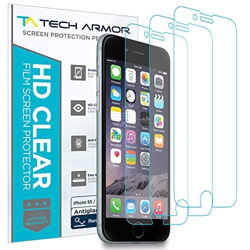 Tech Armor - Displayschutz mit Entspiegelung für Apple iPhone 6 / 6S (4,7 Zoll) - Anti-Fingerabdruck - 3 Stück