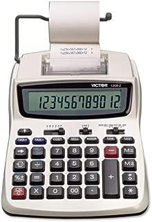 Victor - 1208-2 Two-Color Compact Printing Calculator, Black/Red Print, 2.3 Lines/Sec 1208-2 (DMi EA