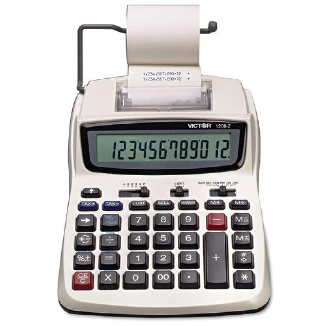 シャンプー回答橋Victor?–?1208?–?2?2色コンパクト印刷電卓、ブラック/レッド印刷、2.3?Lines/sec 1208?–?2?(DMI EA