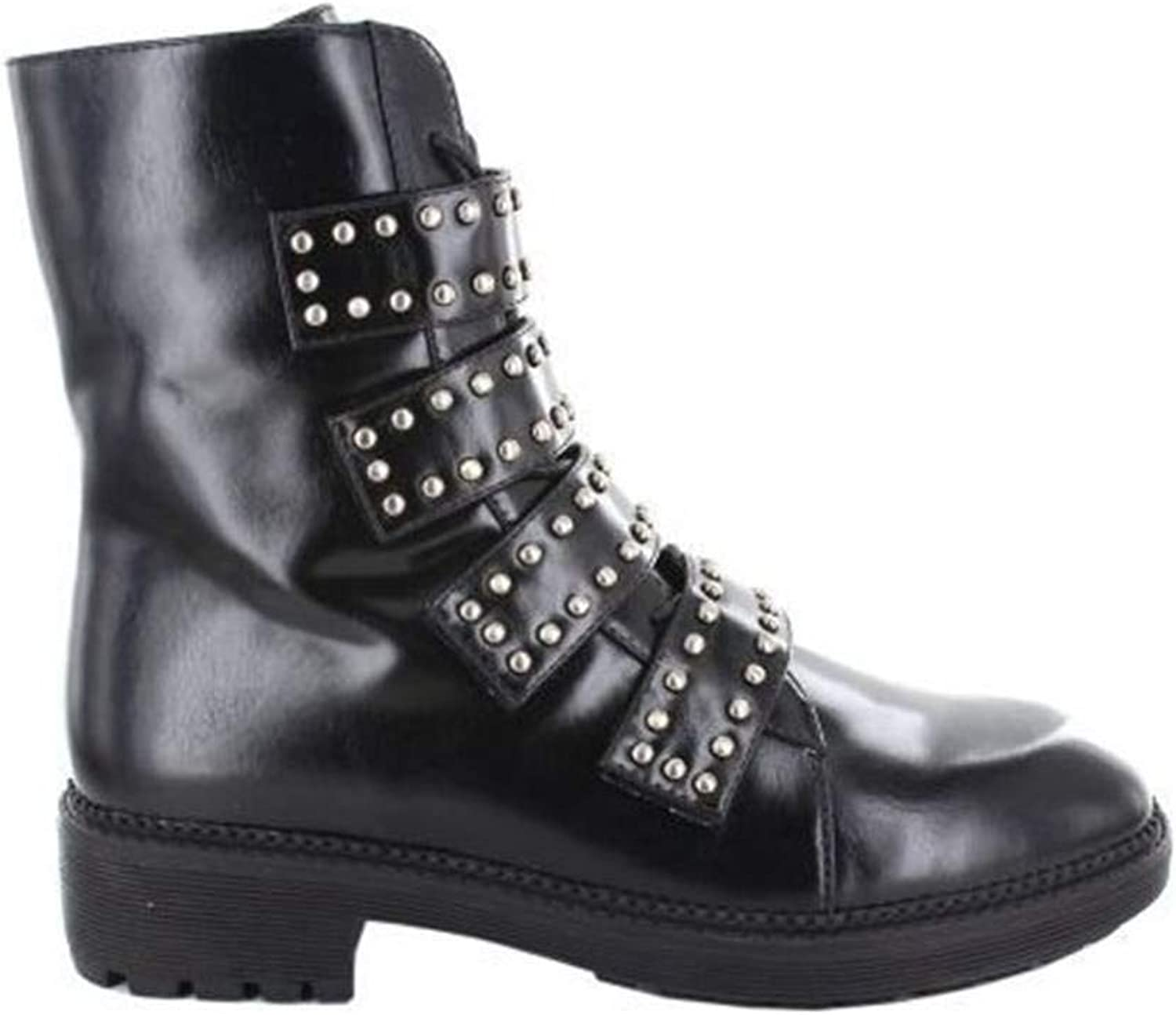 Menbur Amphibious Biker Boot shoes Leather Studs Woman