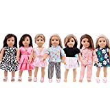 ZWSISU 18-Inch 7 Outfits Clothes for American 18inch Girl Doll Accessories Set