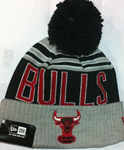 New Era 100% Authentic NBA Chicago Bulls ' Winter Blaze ' Pom Knit Beanie