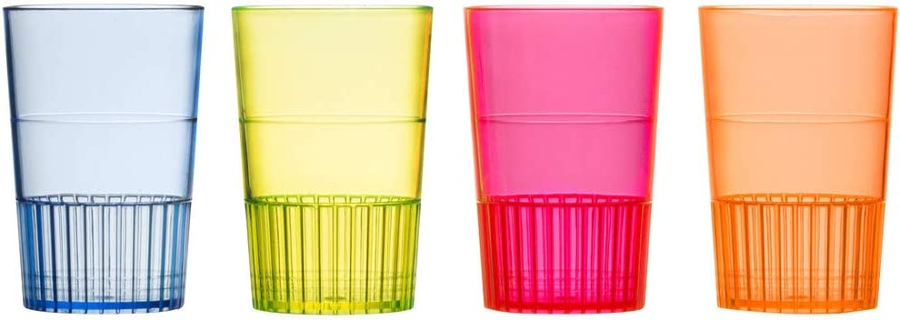 Minoqi security Mixed Outlet SALE Neon Hard Plastic Shooter Jell Glass- Container for