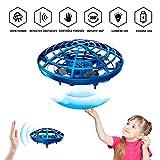 RXYYOS Mini Drône pour Enfants UFO drône Volant Balle Jouets USB Rechargebale Avion Interactive Infrarouge Induction Capteurs Hélicoptère 360 ° en Rotation Commande Manuelle avec Lumière LED