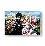 Simayi Sword Art Online 5 Carteles Anime Manga Pared Arte Decoración Impresión 40X50Cm (Jn3557)