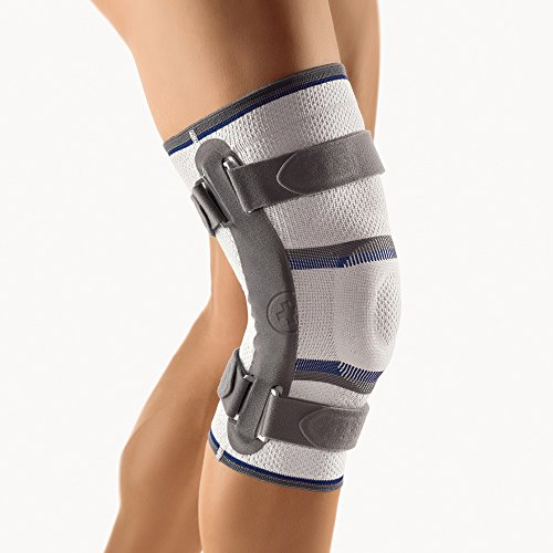 BORT Stabilo® Kniebandage mit Gelenk, Farbe silber XXXL plus links