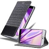 Cadorabo Funda Libro para LG G5 en Gris Negro - Cubierta Proteccíon con Cierre Magnético, Tarjetero y Función de Suporte - Etui Case Cover Carcasa