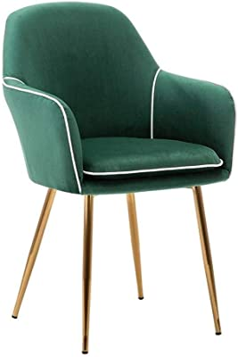 Retro Makeup Chair Home Dining Chair, Ergonomic Armchair,Suitable for Dining Room or Living Room Conference Chair (Color : Green)