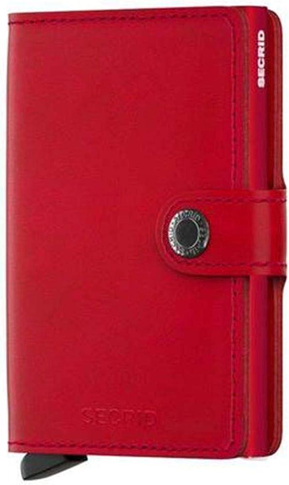 Secrid, porta carte di credito, in pellle e alluminio MO-Black