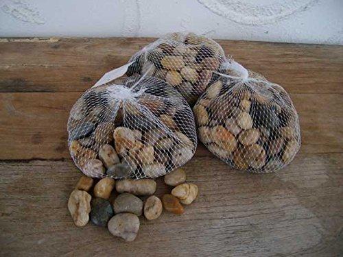 3 Kilo Flusssteine Dekosteine Zierkies Flusskiesel natur-braun 1-4 cm