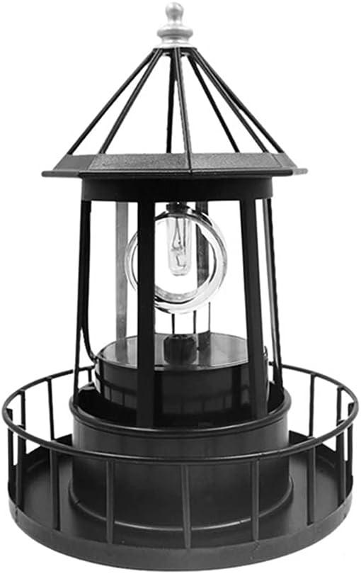 LED Solar Powered Lighthouse Direct store 360 Lamp Degree Waterpro Genuine Rotating