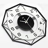 Reloj de pared decorativo creativo, simple silenciosa relojes de cuarzo relojes de pared decorativos en 3D del gran número de no-tictac de escala transparente, instalado en el dormitorio-salón