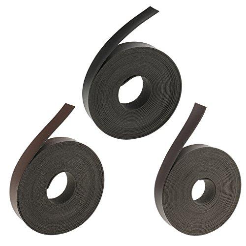 FLAMEER Accesorios de Decoración de Prendas de Vestir con Correa de Cinturón de Cuero de 5 M Multiusos de 3 Piezas