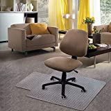 Kuyal Carpet Chair Mat, 48' x 30' PVC Home Office Desk Chair Mat for Floor Protection, Clear, Studded, BPA Free Matte Anti-Slip with Lip (30' X 48' with Lip)