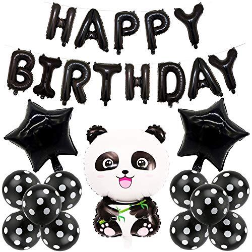 BETOY Panda Party Dekorationen, Panda Geburtstag Dekoration Set Kindergeburtstagsdekorationen, Süß und Zart Panda Luftballons für Jungen- und Mädchengeburtstagsfeier, Partyfeier, Party (Sternbanner)