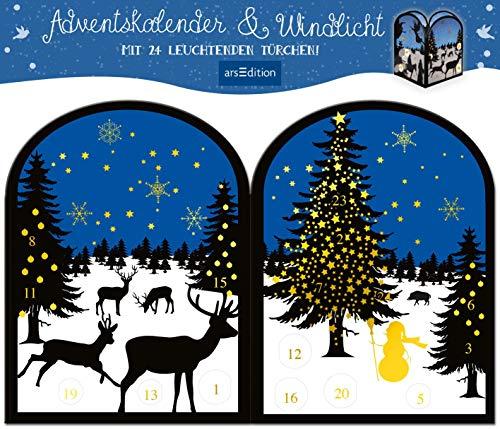 Teelichthäuschen Winternacht: Adventskalender