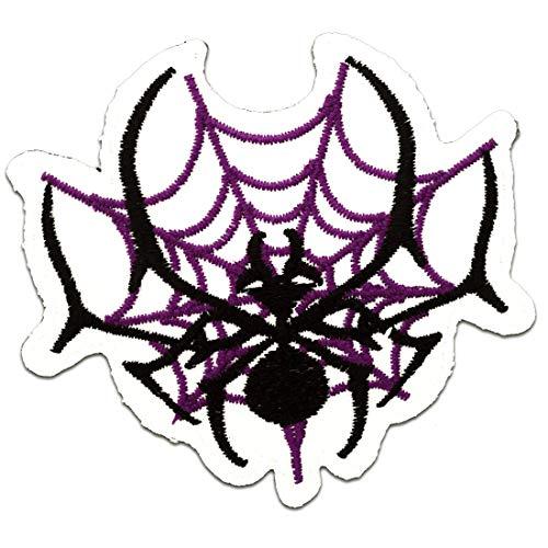 toile d'araignée Spiderman Comic - Ecusson thermocollant patches appliques, Taille: 8 x 7,3 cm