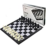 Magnetic Chess Set for Kids and Adults, 13 inch Travel Portable Folding Chess Sets with 3 in 1 Chess Checkers and Backgammon Best Gift for Children Board Game