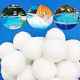 ALAKAYA Bolas de filtro – Bolas de filtro para utilizar en el sistema de filtro de arena de la piscina, bomba de filtro, filtro de arena para acuario, gran efecto de limpieza y muy económico.