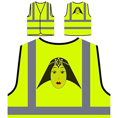 Señora De La Moda Mujer París Chaqueta de seguridad amarillo personalizado de alta visibilidad o604v