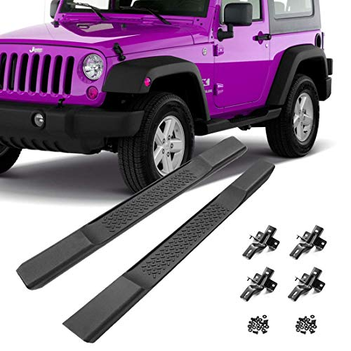 Bosmutus Side Step voor J-eep Wrangler JK, OE Style Rocker Clawer Off Road Loopplanken Nerf Bars voor 2007-2017J-eep Wrangler JK 2 Deur ABS Side Step Rail Bars